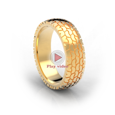 tire wedding band - Tire Wedding Rings